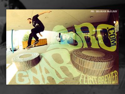 Gnarbro magazine ad photo editing advertisement ad psychedelic magazine gnarbro typography skateboarding skateboard