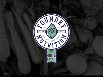 Foundry Nutrition eating nutrition food health healthy vegetables webdesign web badge patch branding logo