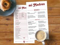 Mi Madres Cocktail / Brunch Menu