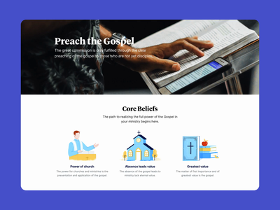 Gospel First bible pastor marketing site website ui church website design landing page religion jesus christian christianity