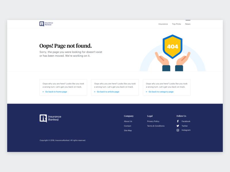 Insurance Ranked   Error 404 insurance error 404 vector illustration ux website concept ui design