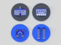 Town Barcelona Icons