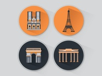 Town Paris Icons