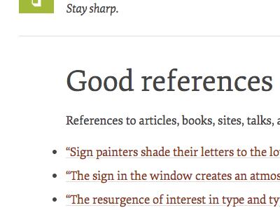 Good references typekit