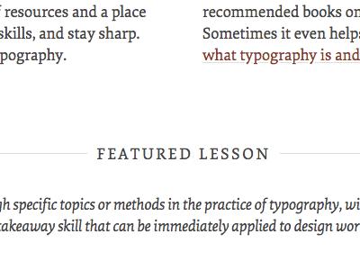 Featured typekit