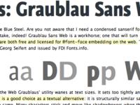 Graublau Sans with Lucida Sans