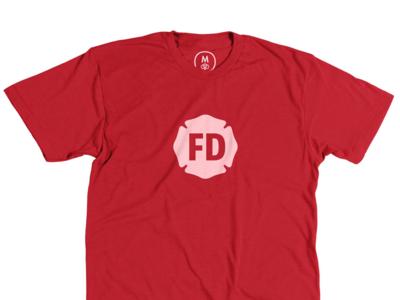 Fire Department t-shirt firefighter fire department t-shirt cotton bureau red white
