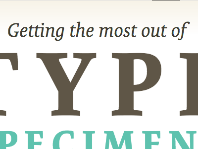 Getting the most out of typekit typekit practice