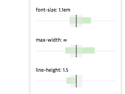 Recommended ranges font metrics universal typography