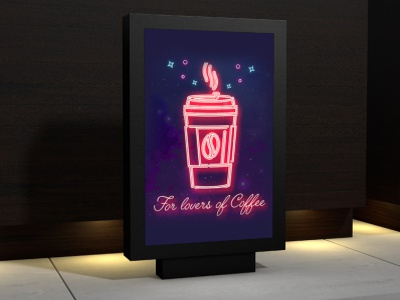 Banner for coffee shop illustration icon coffe banner