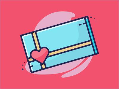 Valentine Gift heart valentine icon icondesign flat iconography minimalist vector design illustration lovely icon valentine day valentine