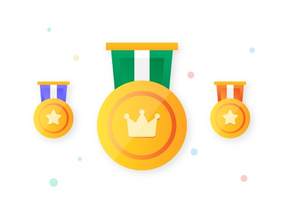 Gold Medal Icon champions crown medal winnner minimalist gold medal icondesign flat iconography vector design illustration icon awards medal