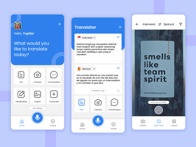 Translate Mobile App explorations ui ux designer ios design screens ui design exploration screen translate ui ux design mobile app translator