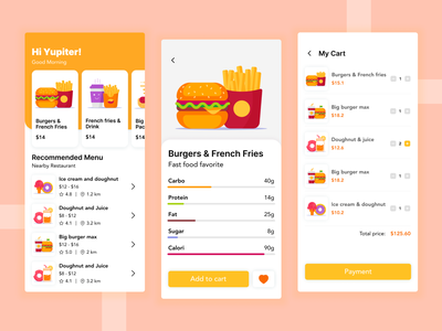 Nutrition App creative exploration ux ui design nutrition nutrients food app healthy mobile app ui design health app