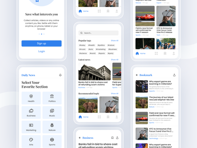 News App Mobile Concept news news feed ui concept ios app exploration minimalist concept mobile app uiux news app ui news app