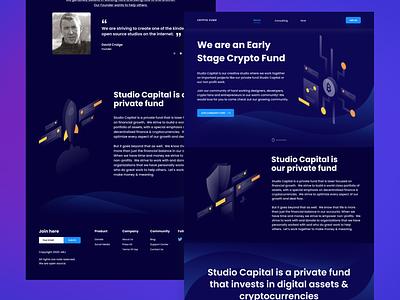 Crypto Fund Website ui design screen cryptocurrency web web design landingpage dark mode web website homepage crypto web