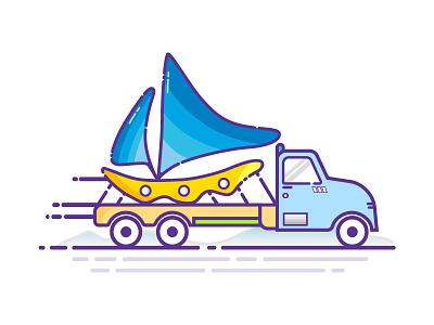 Truck Illustration vector flat mbe style design minimalist vector illustration ui ux design icon