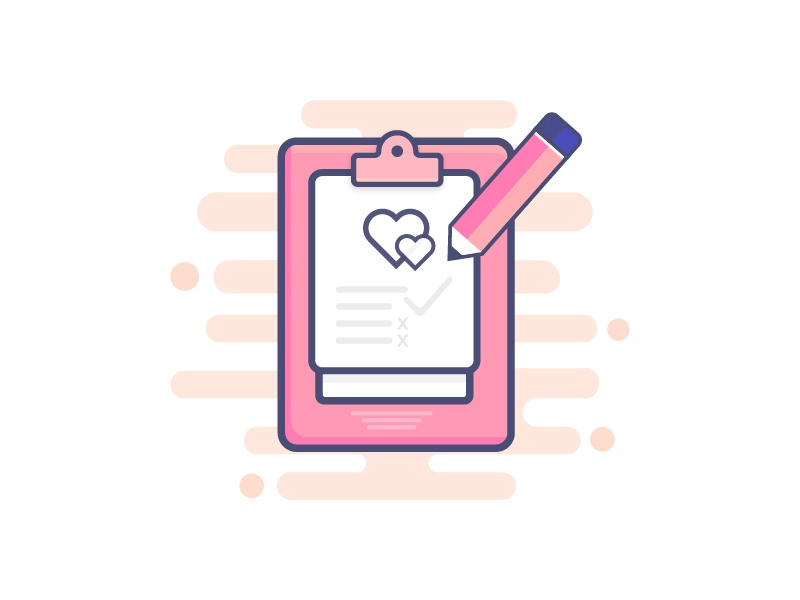Noted of Love Illustration