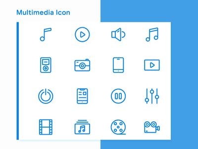 Multimedia Icons mobile icon movie icon video music icon pack icon set icon design icon multimedia