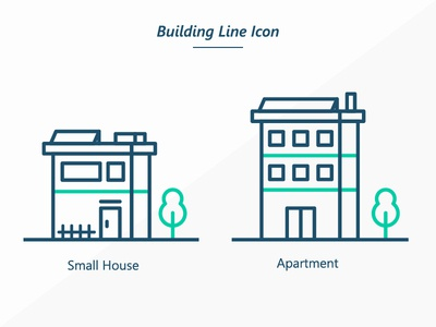 Building Line Icon dribbble iconography apartment house vector illustration vector design page design flat vector illustration icon business building