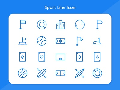 Sports Icon line icon icon design icons mobile app android web iconography icon pack baseball football icon sport