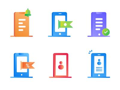 Gradient Icon Exploration style minimalist icon designer handphone gradient icon vector illustration flat ux ui iconography icon design icon
