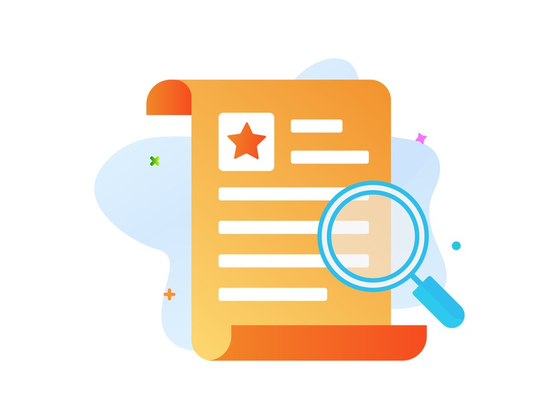 Searching Document Icon style files document gradient icondesign flat iconography vector ui design illustration icon