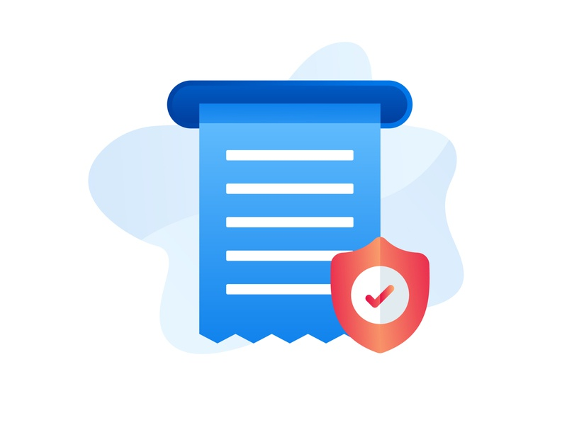 Secure Tax icon document style flat icondesign iconography minimalist vector design illustration icon tax