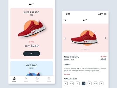 #Exploration | Nike App Design Challenge
