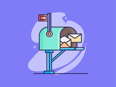 Mail Box Illustration kitaan style icondesign iconography minimalist vector design illustration icon mailbox email mail