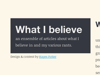 Blog Revamp and Redesign