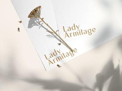 Lady Armitage skincare clean natural beauty female feminine minimal design branding logo