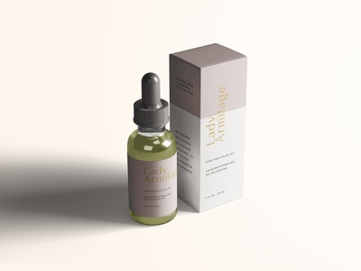 Lady Armitage packaging skincare natural minimal feminine female branding clean beauty