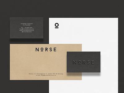 NORSE branding noir natural nordic masculine bold minimal clean
