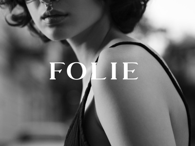 FOLIE fashion noir design feminine branding clean