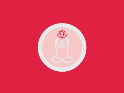 Logo for a Yoga center.