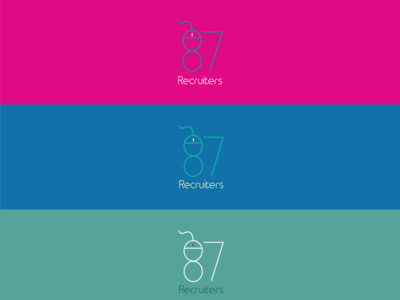 """Logo for online recruitment company """"87Recruiters""""."""