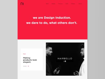 """Web Design of """"Design Induction""""."""