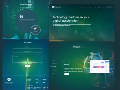 Landing Page for a Blockchain based startup. (Modern Web design)