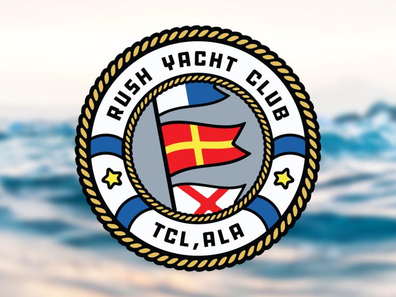 RYC boating tuscaloosa alabama badge pirate maritime flag burgee sailing nautical nautical flag