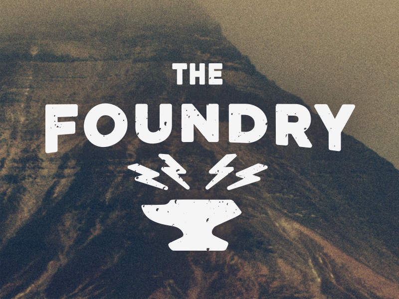 Foundry Anvil dirty distressed grunge lightening bolt bolts foundry haze mountain anvil texture church