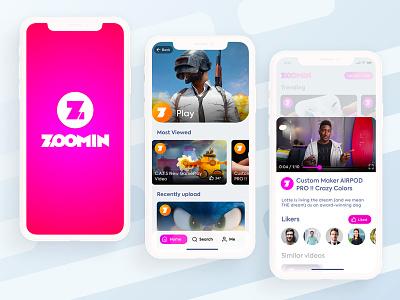 Video on Demand App ( Light UI ) minimal ux ui ios flat mobile app design