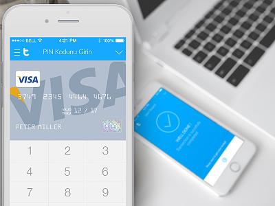 Tivlo payment system - transaction screen ux ui visa white minimal design app iphone ios payments