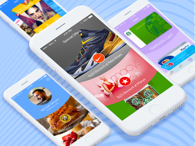 Mobile Wallet iOS App interface design ux ui app ios profile wallet mobile