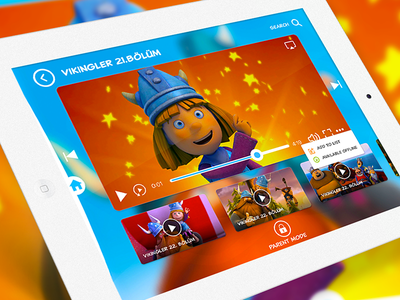 TRT Kids Entertainment Application design interface ux ui app ios entertainment video ipad