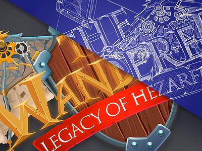 The Wanderer Game Logo Design sketch drawing illustration design game branding typography logo