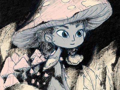 Champignon nature mushrooom champignon illustraion