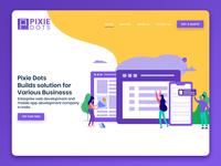 Pixie Dots Landing page design
