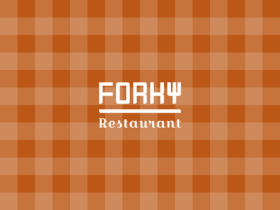 FORKY logo design adobe photoshop logo design