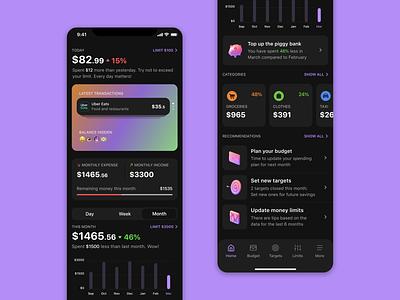 Finance Tracker App investment savings money finance ui app mobile